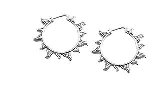 Silver sunshine baali earrings for women