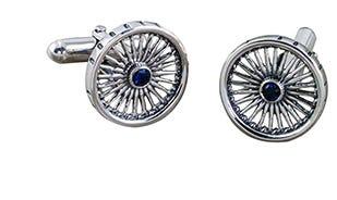 Ashok Chakra wheel of progress cufflinks in silver