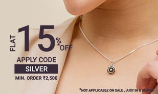 Blooming Rose Necklace - Flat 15% off offer coupon code SILVER