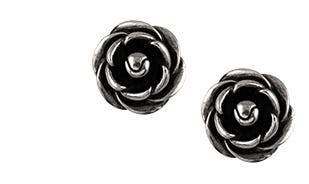 Blooming Rose Stud Earrings