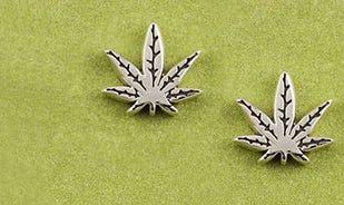 Shop Cannabis Leaf Stud Earrings Online