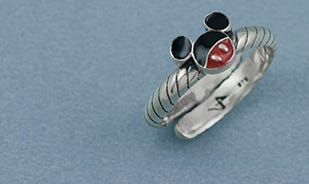 Disney Mickey Mouse adjustable toe ring in silver