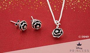 Disney Blooming Rose Jewellery Set