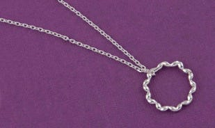 Ensemble couples pendant for her in silver