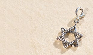 Star of David charm in silver