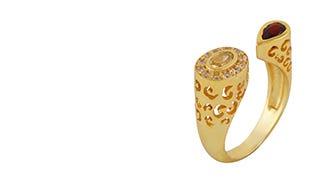 Abha Ring in Golden Topaz
