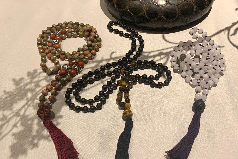 Natural Gemstone Japa Malas