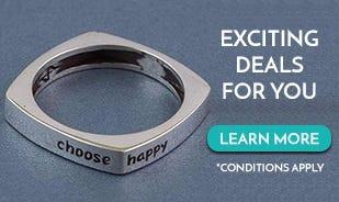 Choose Happy Band Ring