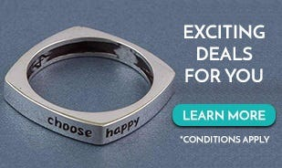 Choose Happy Message Ring