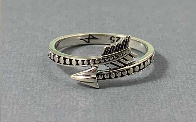 Silver Arrow Wrap Band Ring
