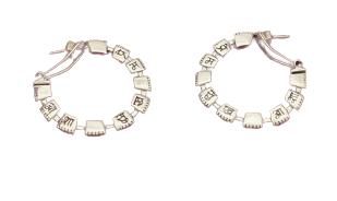 Prem Sukh Asha Silver Hoop Earrings
