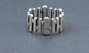 Language of Love Ring in silver