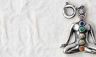 Seven Chakras Charm in silver