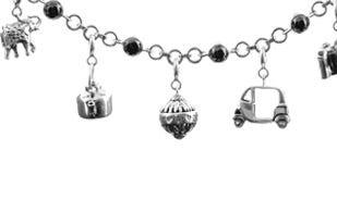 Charm bracelet in silver