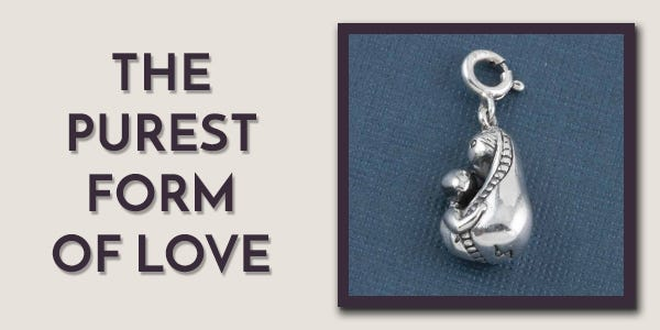 Silver Mother and Child Charm by Fourseven