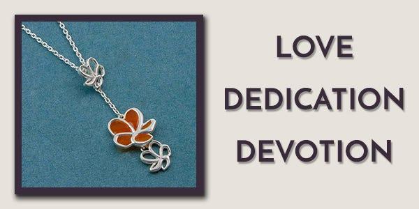 Silver Plumeria Drop Necklace by Fourseven